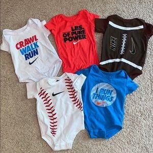 3-6 months Nike sports onsies